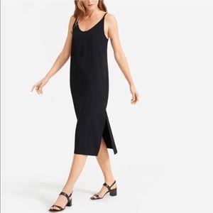 Everlane Japanese GoWeave Black Slip Dress